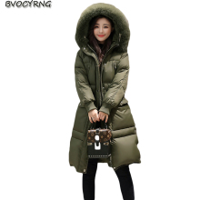 New 2017 Fashion Women Winter Down Jacket Coat High Quality Fox Collars Leisure Female Long Parka Thickening Warm Coat Q824