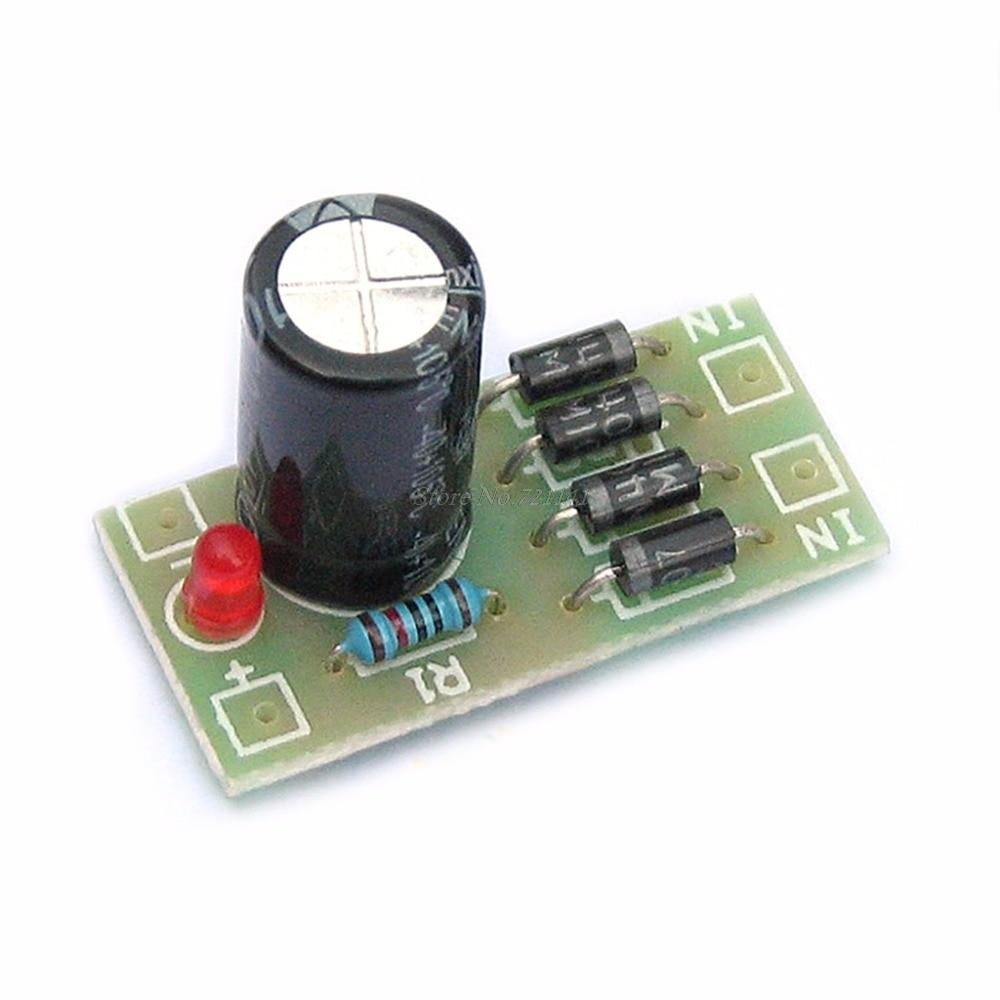 Diy Kit In4007 Bridge Rectifier Ac Dc Converter Full Wave Circuit 6 12 24v To 12v Filter