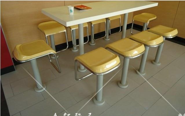 Tavoli da bar alta in acciaio inox base fissa spuntino sgabelli e