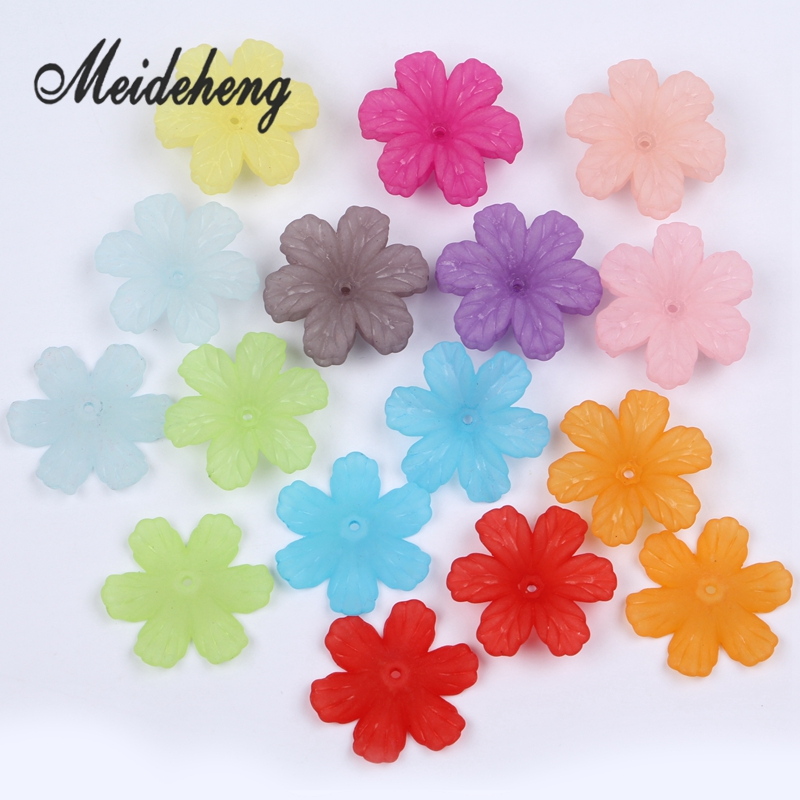 32x29mm Acrylic Colorful Frosted flower beads untuk Menjahit Anting - Perhiasan fashion - Foto 5