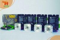 Новое поступление! Wantai 4 оси Nema 17 (Национальная ассоциация владельцев электротехнических предприятий) шаговый двигатель 42BYGHW208 37oz in + Драйвер