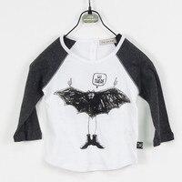 Gratis Verzending 2015 Nieuwe Lente Zomer Kinderkleding, Kids Jongens Tshirt 100% Katoen Jersey bat print Korte Mouw jongen t shirt