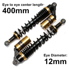 Universal 15 3/4 400mm Motorcycle Air Shock Absorber Rear Suspension For Yamaha Motor Scooter ATV Quad Gold&Black D15 цена