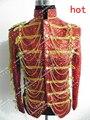 2015 певица танцор куртка горяч-продавая мода королевский мужской женский костюм мужской мода королевский для ну вечеринку производительности шоу ночной клуб
