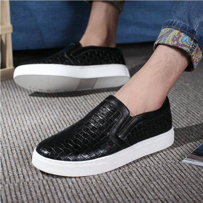 Sangat Fashion mens pu kulit sofa Sneakers pria Flat kulit sepatu - Sepatu Pria - Foto 2