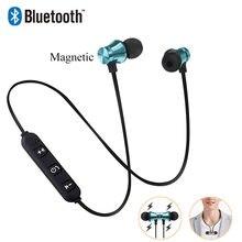 Bezprzewodowe słuchawki Bluetooth słuchawki dla Samsung S6 S7 S8 S9 S10 sportowe słuchawki z pałąkiem na kark z mikrofonem dla Xiaomi mi 9 8 Redmi Huawei