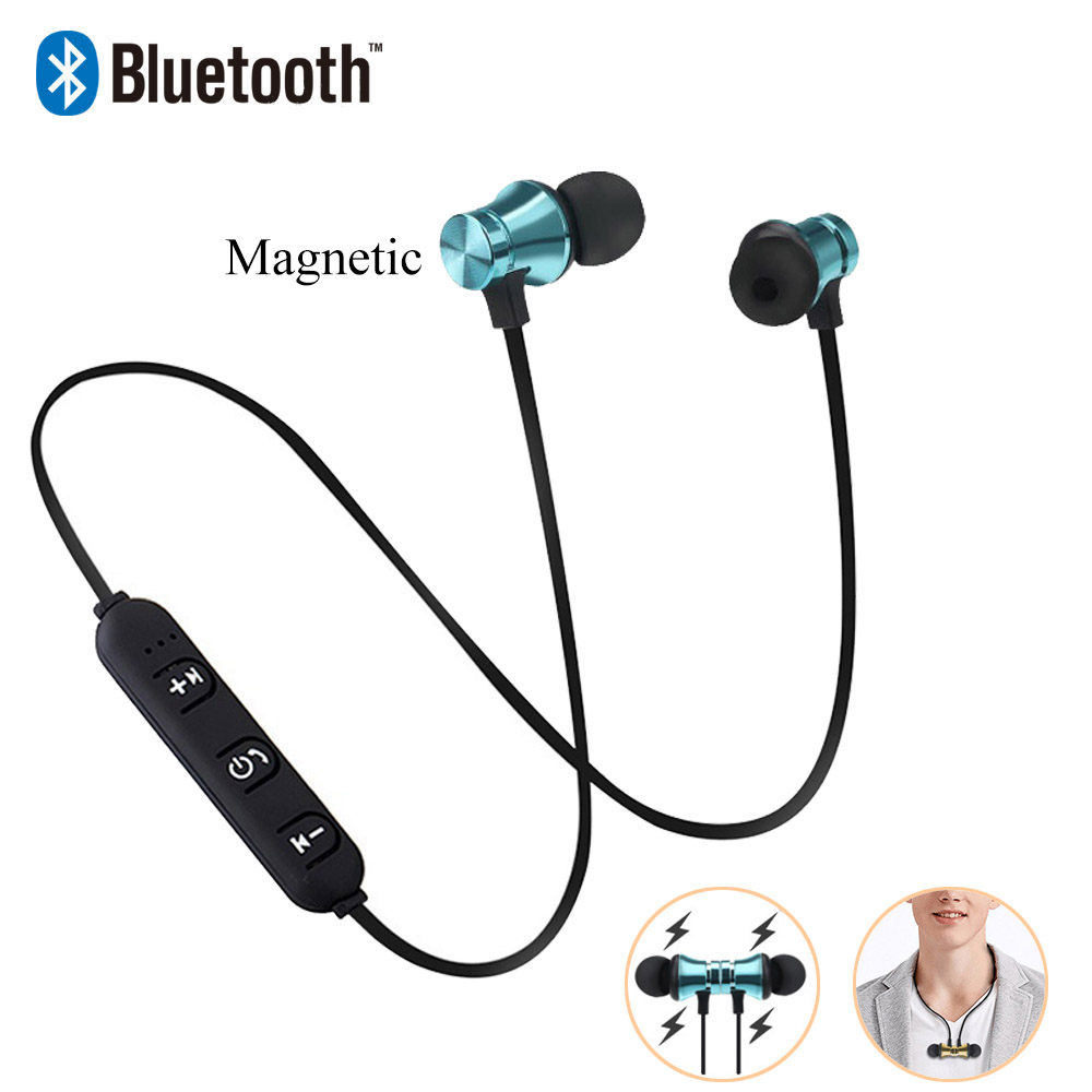 Wireless Headphone <font><b>Bluetooth</b></font> Earphone For Samsung S6 S7 S8 <font><b>S9</b></font> S10 Neckband Sport Headset with Mic For Xiaomi mi 9 8 Redmi Huawei image