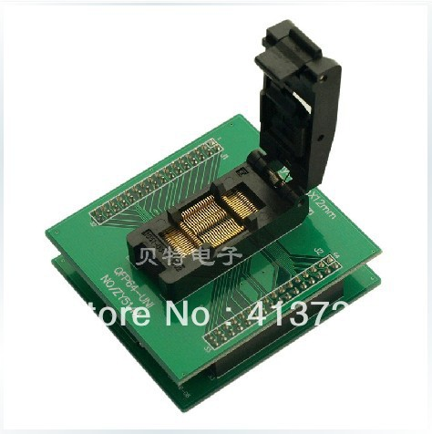 ZY514A QFP64 adapter block programming block transfer test, burn, ic qfp32 programming block sa636 block burning test socket adapter convert