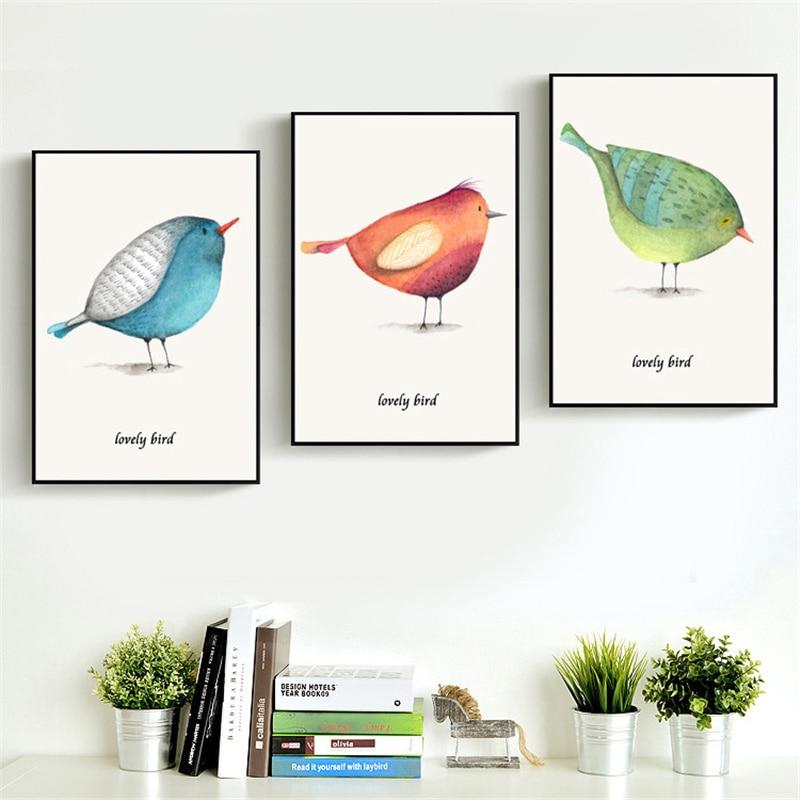 Achetez en gros toile peinture panneau oiseaux en ligne for 3 little birds salon