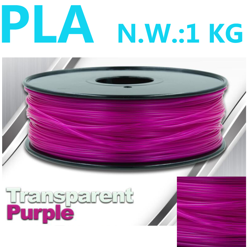 Transparante paarse pla gloeidraad 1.75mm 1kg 3d printer gloeidraad - Office-elektronica