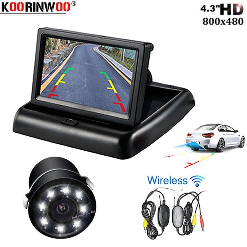 Koorinwoo HD Универсальный Автомобильный Стайлинг беспроводной 4,3