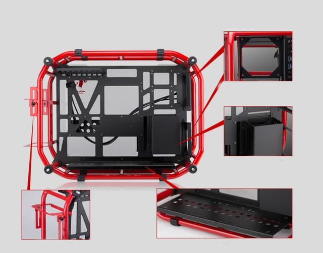 ATX Gaming Computer PC Case Desktop desk box case gamer Vertical enclosure 3