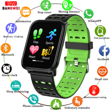 LIGE Smart Bracelet Men IP67 Waterproof Watch Blood Pressure heart rate Monitor LED HD full touch screen Sport Smart Watch +Box men smart watch fashion sport touch screen watches chronograph digital wristwatches blood pressure heart rate monitor calorie