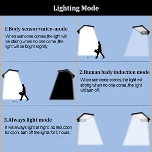 Image 4 - 500 lumen Outdoor Led Solar Licht 42 Leds Außen Motion Sensor Solar Lampe Wasserdichte Sicherheit Lichter Für Garten Wand Hof