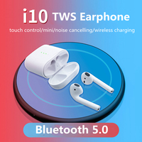 Wearpai i10 TWS bluetooth/earphone sport wireless earpiece with micphone touch control bluetooth earbuds 5.0 with charging box