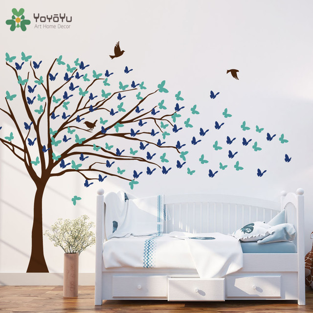 creative design wall decal home self big tree wall stickers for kids