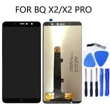 5.65 inç AAA BQ Aquaris X2 dokunmatik LCD ekran Ekran digitizer Cam Için BQ X2 Pro Telefonu Parçaları Bileşenleri + ücretsiz Araçlar