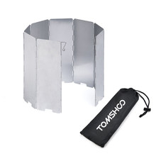 TOMSHOO Outdoor Wind Shield Schermen Kooktoestellen 8/10 Platen Gasfornuis Voorruit Screen Fornuis Wind Shield Schermen Aluminium(China)