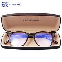 EYEGUARD Anti Reduzieren Blau Rays Licht Unisex Frühling Scharniere Computer Lesebrille Leser UV Schutz Anti Glare Brillen Demi
