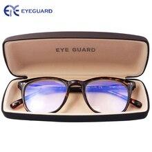 EYEGUARD 抗削減ブルー光線ライトユニセックス春ヒンジコンピュータ老眼鏡読者 UV 保護アンチグレア眼鏡デミ