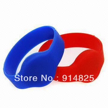 DWE CC RF 100pcs/lot +Free shipping +74mm RFID 125khz EM-ID TK4100 chip silicone wristband bracelet tag waterproof