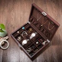 luxurious Wooden jewelry box wooden jewelry bracelet watch storage box toys organizer storage case desktop organizer MSSH006