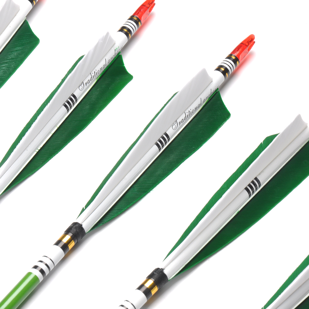 6/12/24pcs 80cm Spine 500 Carbon Arrows OD7.6mm ID6.2mm with 2 Green - Hunting - Photo 2