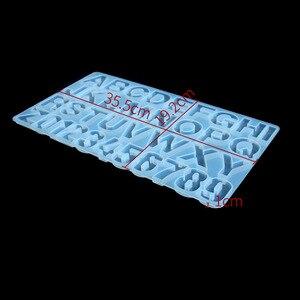 Image 3 - Snasan 1 pc molde de silicone tamanho grande letras número resina silicone molde pingente artesanal diy jóias fazendo ferramenta resina cola epoxy