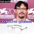 New Retro homens óculos de armação com embalagem original óculos mulheres Sem Parafusos óculos de leitura miopia óculos oculos de grau