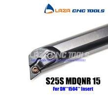 S25S-MDQNR15 Chato Bar Virando Titular Interna, 107.5 Ângulo da ferramenta De Corte CNC, barra de Mandrilar Indexáveis para DNMG1504, Torno chato bar
