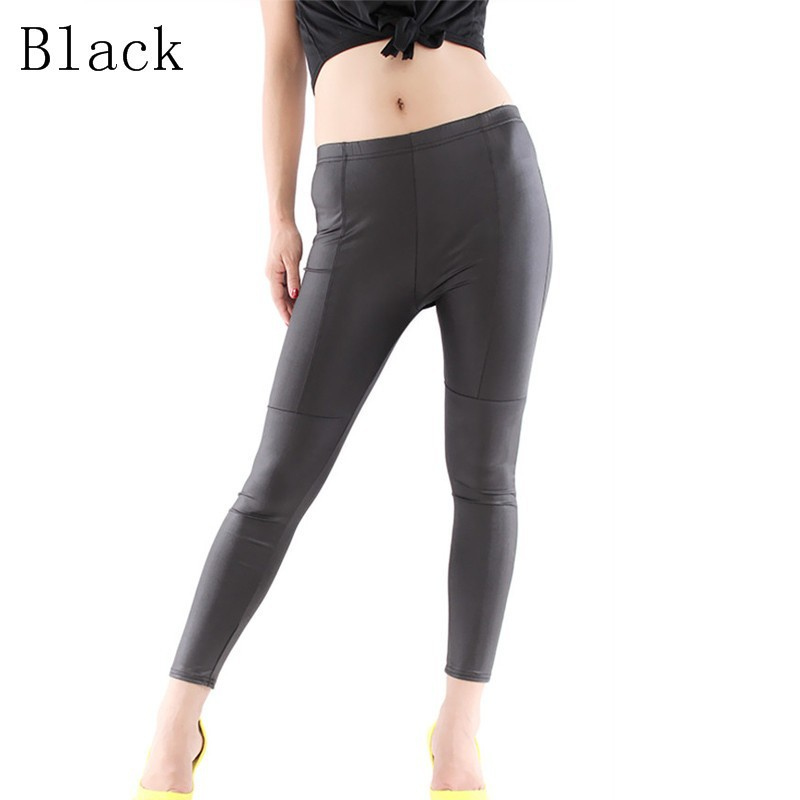 Faux Leather Leggings For Women - M,L,XL,XXL - Khaki, Black, Brown - image  on https://awesomeleggingstore.com
