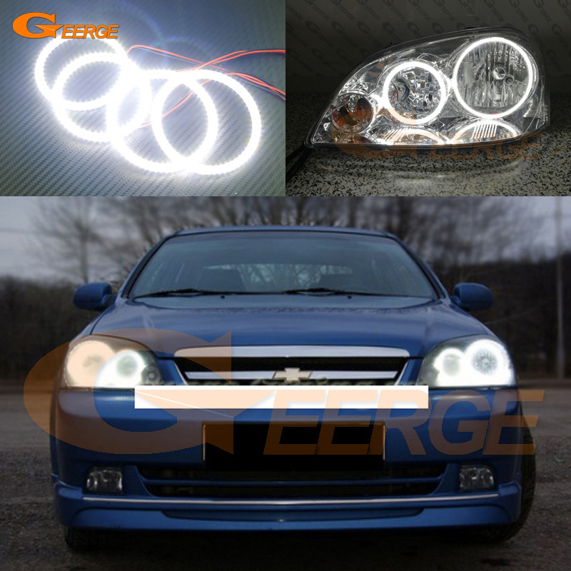 For Chevrolet Lacetti Optra Nubira 2002-2008 Excellent DRL Ultra bright illumination smd led Angel Eyes Halo Ring kit gamma gf 641 white cool chevrolet lacetti