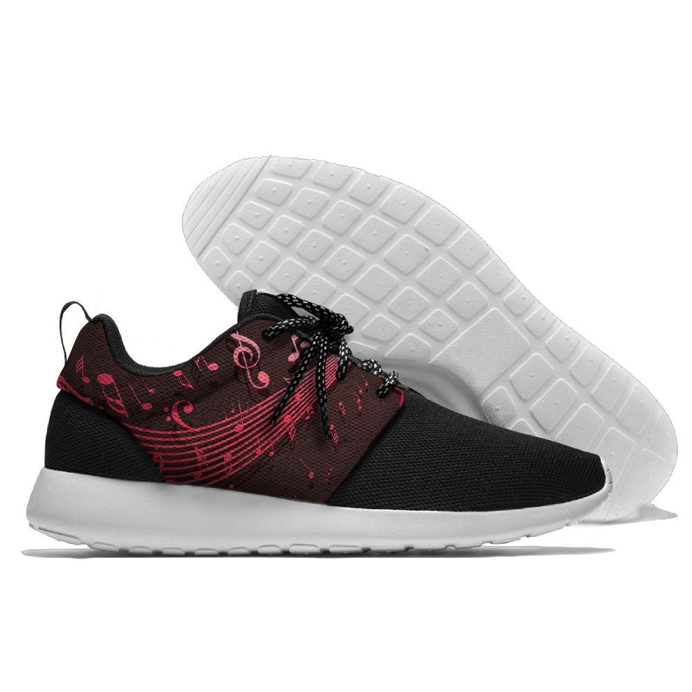Breathable Sports Running Shoes Walking Shoes light weight Beautiful Music Notes Vector Design shoes summer Confortable shoes