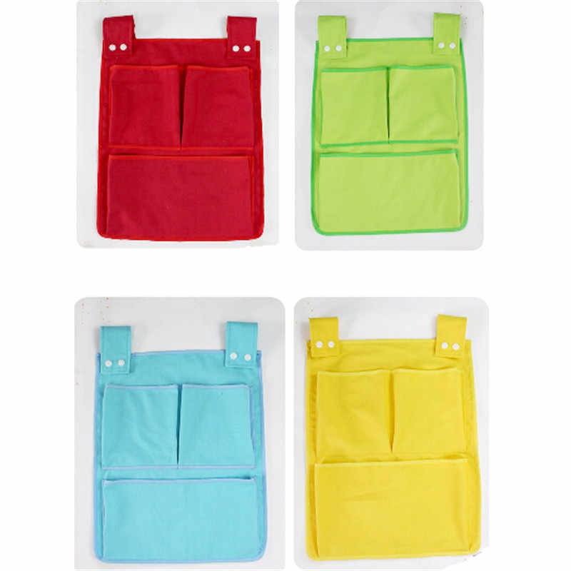 Новый мультфильм номера Детская подвесная сумка для хранения детская кроватка кровать кроватка Органайзер игрушка пеленка карман для новорожденной кроватки Комплект постельного белья 45*35 см