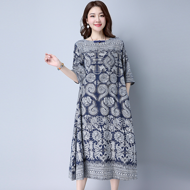 Plus la Taille XXL M ~ 2XL Mori Fille Thaïlande Style Mode Vintage 3/4