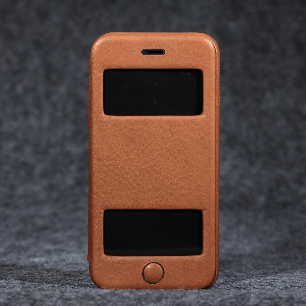 Telefon fall für Apple iphone 6/6 s Luxus Echtem leder super slim profil brieftasche fall abdeckung - 3