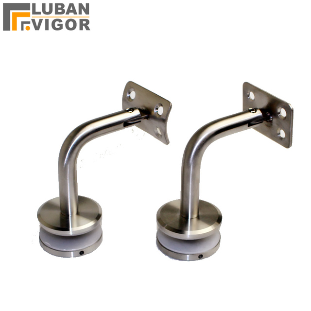 High Quality, Stainless Steel Glass Handrail Bracket Stairs Accessories  ,Glass Clamp/clips 90degree