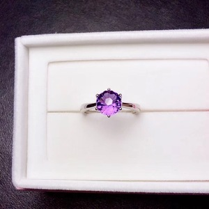 Image 3 - ที่เรียบง่ายและประณีต 925 Silver Amethystแหวนพิเศษราคาดึงดูดความสนใจ