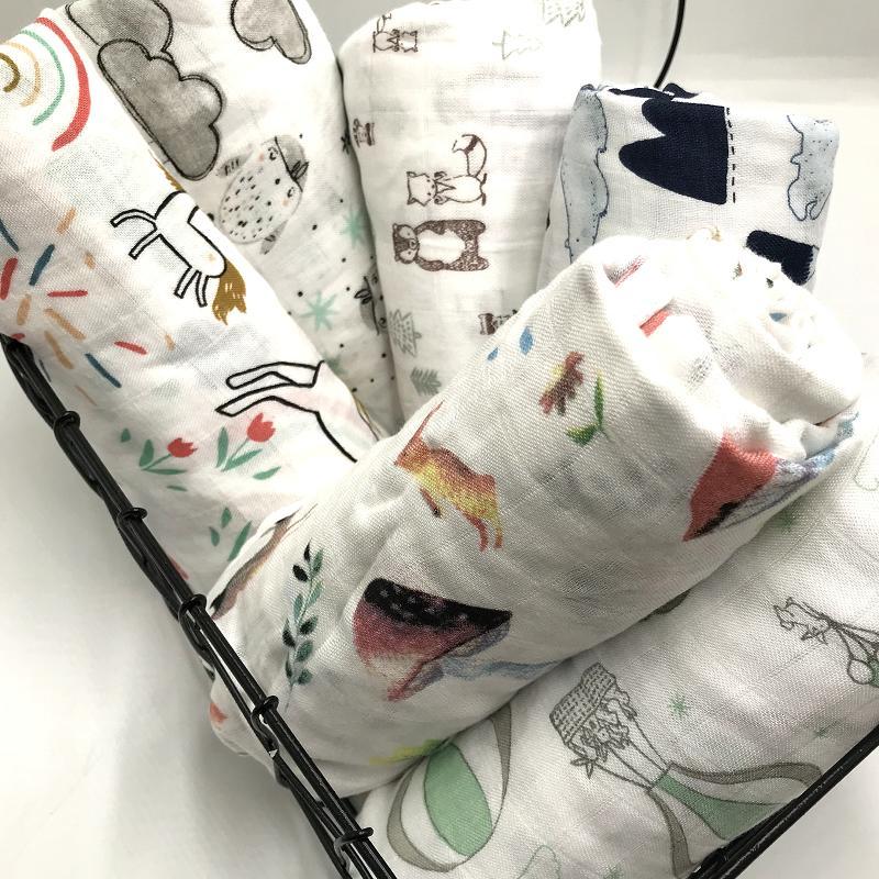 100% Bamboo Fiber Muslin Baby Blanket Swaddles Soft Newborn Blankets Bath Gauze Infant Wrap Sleepsack Stroller Cover Play Mat