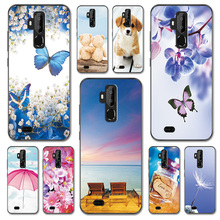 For Oukitel C12 Pro Case Cover Fantasy Design Butterfly C8 Love Heart Phone Bags Housing C 12