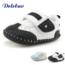 Delebao Newdesign Baby Boy & Girl Shoes PU Leather Hook & Loop Spring/Autumn Infant Toddler First Walkers Shoes leather baby first walkers antislip first walkers for baby boy girl genius nubuck leather baby infant toddler shoes 0 1 years