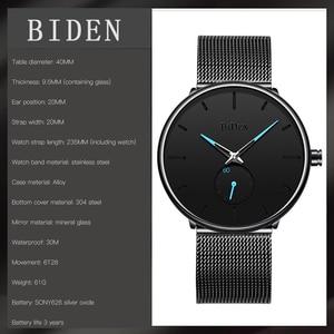 Image 5 - BIDEN Mens Analog Quartz Watches Men Luxury Business Watch Fashion Simple Wristwatch Male Waterproof Clock Relogio Masculino