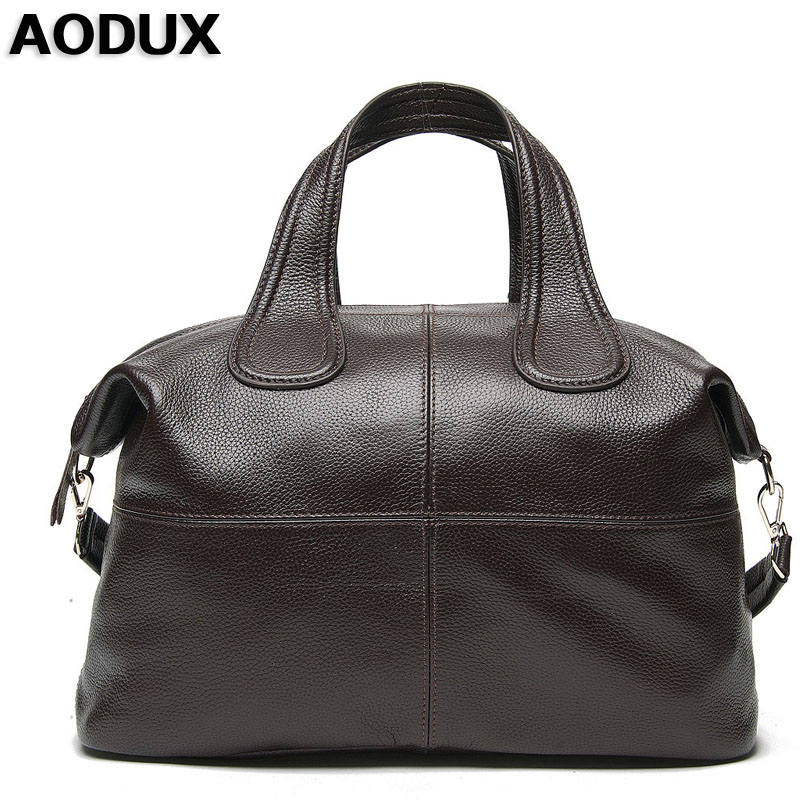AODUXLuxury Fashion Famous Brand Designer Genuine Leather Women Handbag Bag Ladies Satchel Messenger Tote Shoulder Bags Purse Lu 2018 new women hangbag brand famous designer pu leather women handbag bag ladies satchel messenger tote bags travel luggage