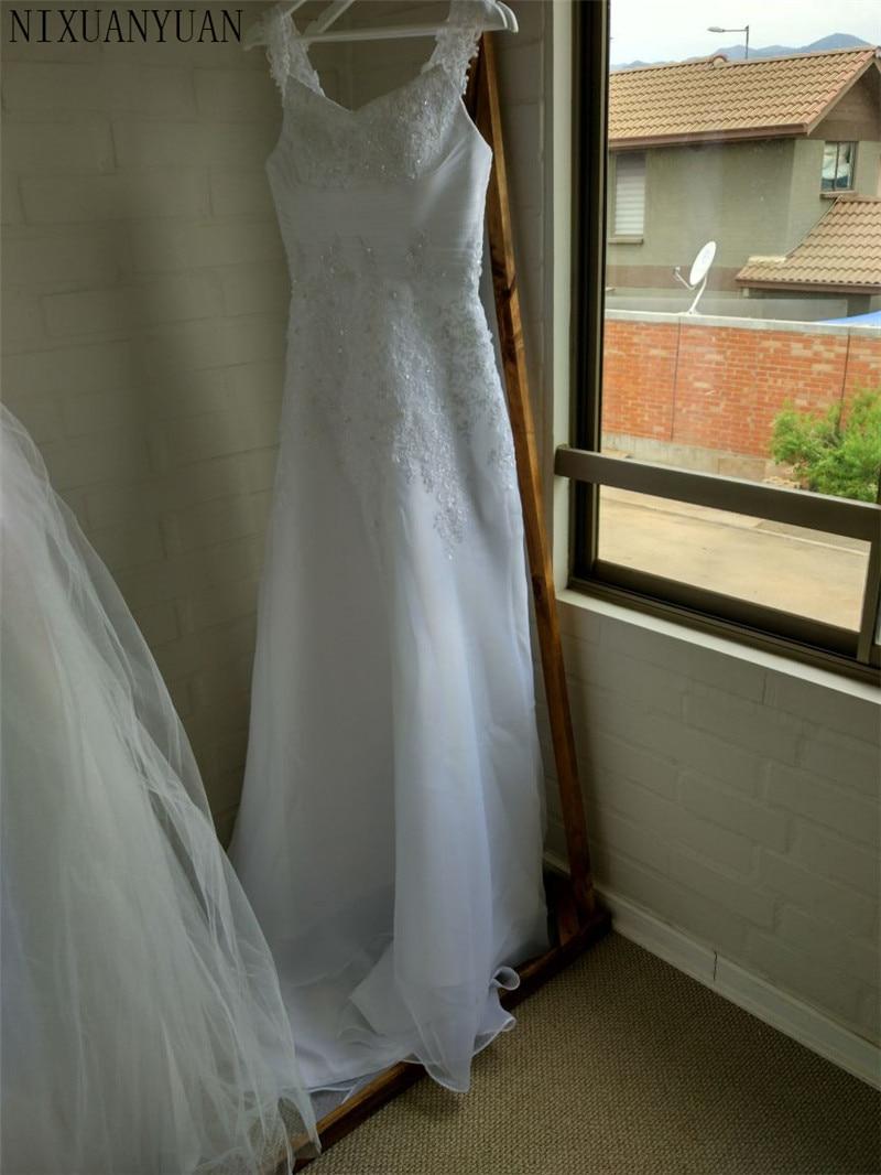 Vestido De Noiva Freies Verschiffen Neue Design Casamento A Line Cap Ärmeln Robe De Mariage Lange Spitze Hochzeit Kleider 2020