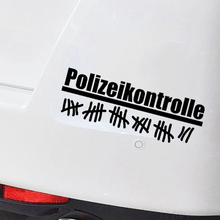 цена на Car Sticker Police Control Adjustment Vinyl Car Packaging Accessories Product Decal Decoration
