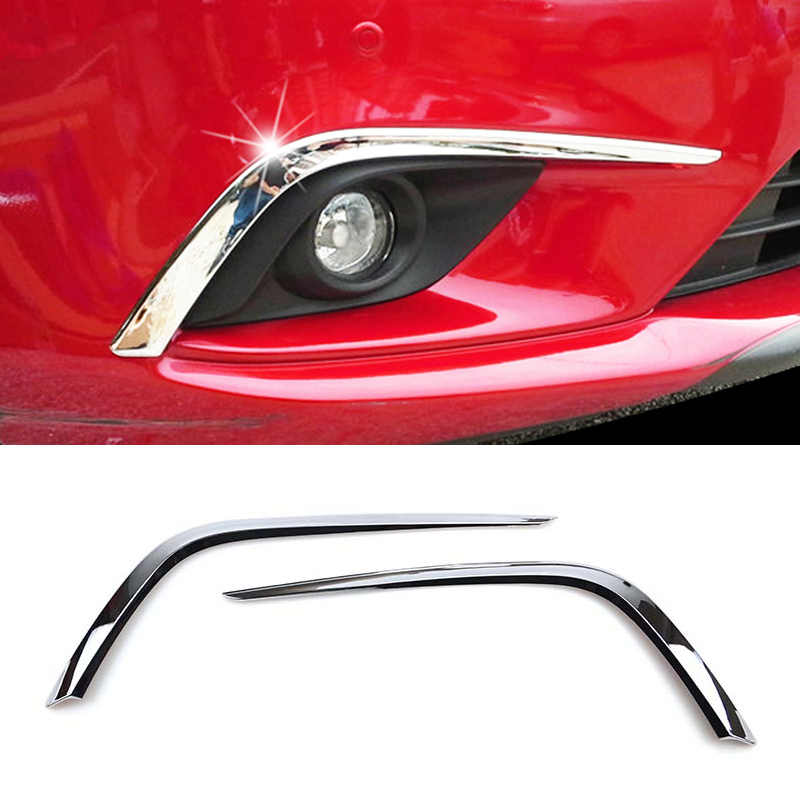For Mazda 6 Atenza M6 GJ 2014 2015 Chrome Front Head Fog Light Foglight Lamp Cover Trim Bezel Eyebrow Eyelid Molding Decoration