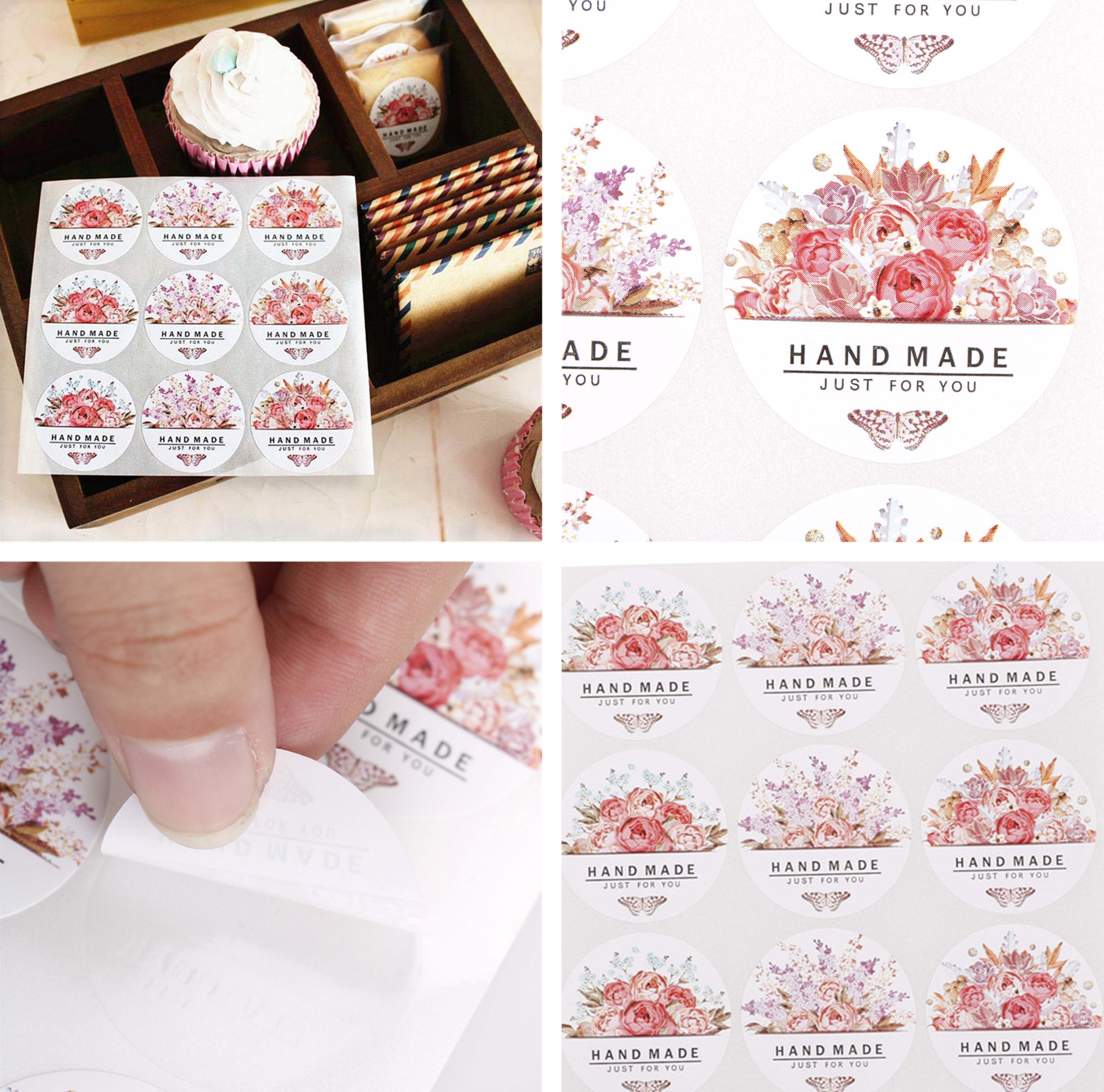 54pcs/lot Flowers Totem Memo Stickers Pack Posted It Kawaii Planner Scrapbooking Stickers Sealing Packing Sticker DIY