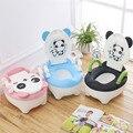 2016 nuevo estilo bebé bacinica asiento niños panda de dibujos animados portátil cómodo higiénico asistente multifunción ecológica
