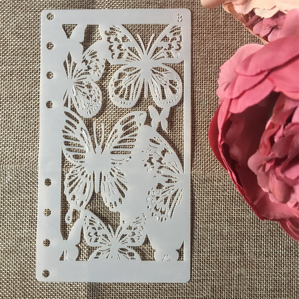 1Pcs A6 Butterfly DIY Craft Layering Stencils Wall Painting Scrapbooking Stamping Embossing Album Paper Card Template