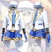 купить 2017 New LoveLive! Card HR Sonoda Umi Cosplay Costume Fancy Dress Adult Costumes Carnival/Halloween Costumes for Women S-XL дешево